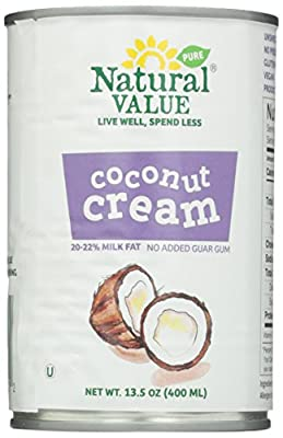Natural Value Coconut Cream, 13.5 Ounce (Pack of 12) from Natural Value