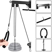 Odoland Wall Mount Forearm Wrist Roller Trainer, Wrist Blaster Arm Strength Training Exerciser with Heavy Duty