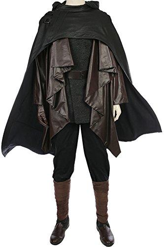 Luke Skywalker Costume Black (CosplaySky Star Wars 8 The Last Jedi Luke Skywalker Costume Ver.1 Medium (Without Shoes))