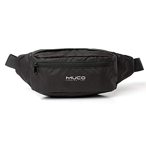 MUCO Fanny Pack for Men and Women Water Resistant Waist Pack Lightweight Waist Bag Hip Bum Bag with Adjustable Strap for Outdoors Travel Running Hiking Cycling