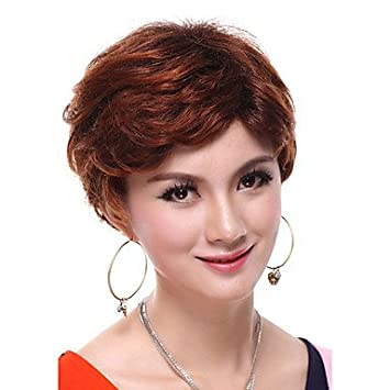 Amazon Com No Cover Short Curly Red Hair Hair Replacement Wigs