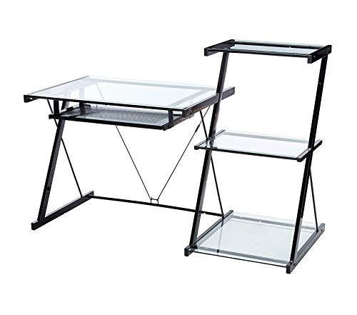 Z-Line Nero Desk and Bookcase -