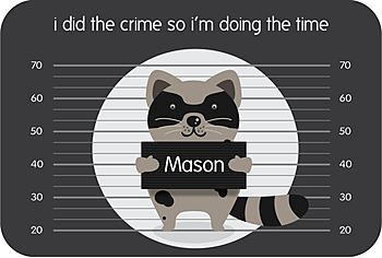 Personalized Time Out Mat - Calm Down Rug - Child Discipline Tool - Racoon