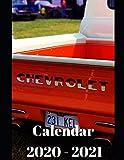 "Chevrolet Calendar 2020-2021: Weekly Planner Calendar Logbook Diary Gift Todo Memory Book Budget Planner | Cars, Men, Woman, Girls & Boys, Autos | 8.5"" x (Cars calendar 2020-2021)"