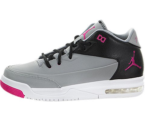 Jordan Flight Origin 3 Gg Big Kids Style, Wolf Grey/Vivid Pink/Black, 5.5 (Air Jordan Flight Pink)