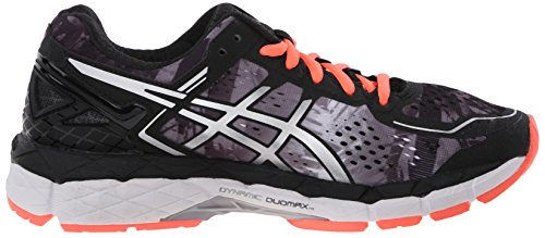 Asics Womens Gel-kayano 22 Scarpa Da Corsa Nero / Flash Corallo / Bianco