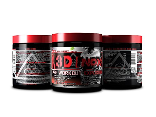 TBN Labs Certified Most Intense Pre Workout Supplement 1,3D Nox on Amazon Voted #1 for Explosive N.O Boost. Tropical Fruit Punch Flavor, Net Wt: 270g, Serving Size: 6g, Total Servings: 45