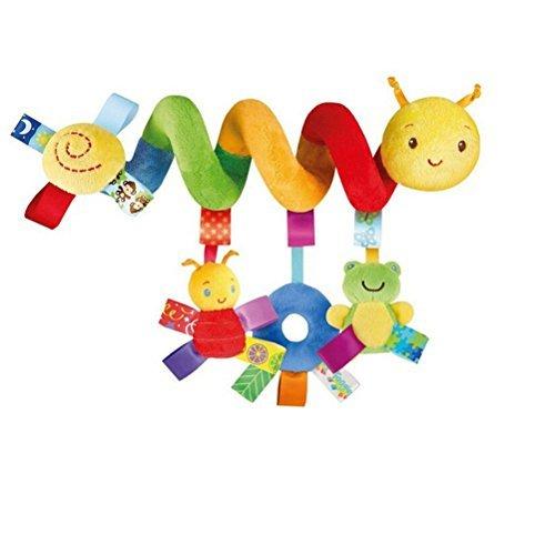 Baby Mobile Crib Music Toy Kid Crib Cot Pram Ringing Bed Bells Spiral Rattles