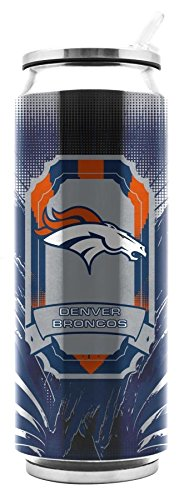 NFL Denver Broncos Stainless Steel Thermocan 16.9 oz - Thermo Can Travel Tumbler Drink Container