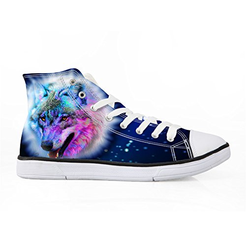 Bigcardesigns Fashion Galaxy Wolf Casual Hoge Top Canvas Schoenen Sneakers Wolf 4
