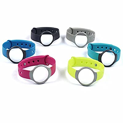 GL-Sail(TM) Set 6 Colors Replacement Bands Wristband Strap with Clasps for Misfit Flash(Pack of 6) (6PCS For Misfit Flash)