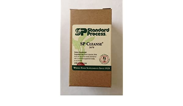 Amazon.com: Standard Process SP Cleanse Dietary Supplement 2670 150 Capsules: Health & Personal Care