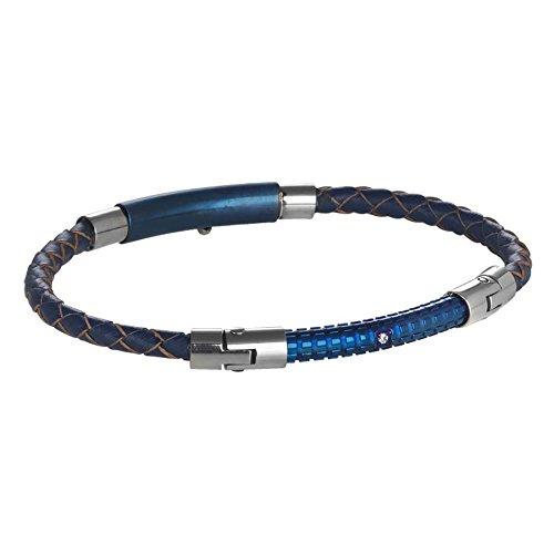 9ade1b16bb2e El servicio durable Pulsera de cuero azul trenzado