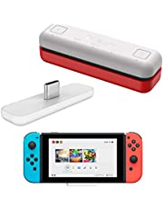 WeChip Route Air Bluetooth Audio USB Transceiver Adapter Compatible with Nintendo Switch/Switch Lite / PS4 / PC, 5mm, Lag Free, Plug and Play, Blue (White)