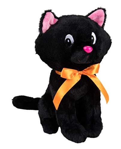 Black Cats Around Halloween (Blue Panda Cat Plush Toy - Sabrina The Cat Large Black Stuffed Animal, Halloween Plush, Ideal Gift for Kids Birthday, Party)