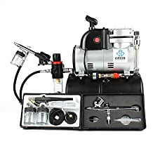 0.2mm 0.3mm 0.5mm 0.8MM Gravity Dual Single Action Airbrush Kit with Air Tank Compressor for Hobby - T-shirt