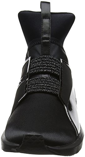 Cross Wn's Chaussures EP Satin Puma Femme de Black Noir Fierce silver Puma qtaY77