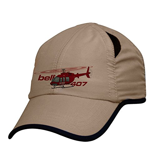 Bell 407 Helicopter Cap Custom Airplane Pilot Hat - Personalized with Your N# (Helicopter Hats)