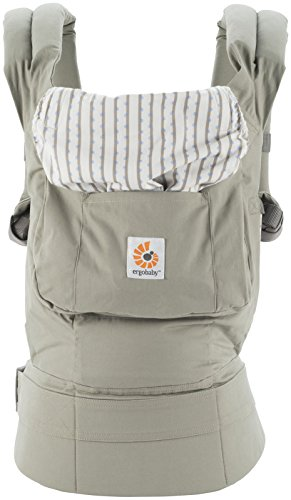 Image of the Ergobaby Original Award Winning Ergonomic Multi-Position Baby Carrier with X-Large Storage Pocket, Dew Drop