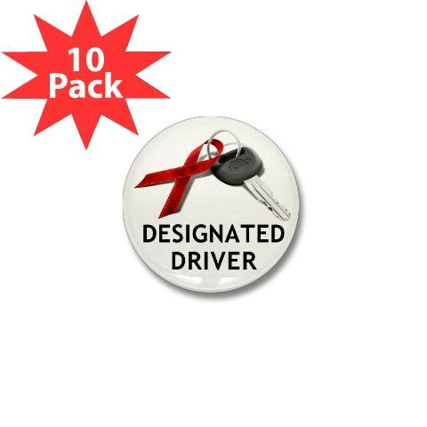 December Drunk Driving Prevention Designated Driver 1 inch Mini Pinback Button - Driver 1