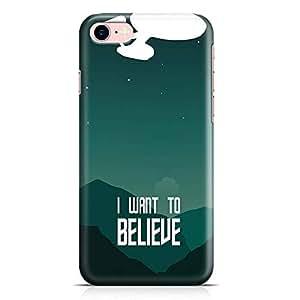 Loud Universe Believe Quote Star trek iPhone 7 Case Star Trek Classic iPhone 7 Cover with 3d Wrap around Edges