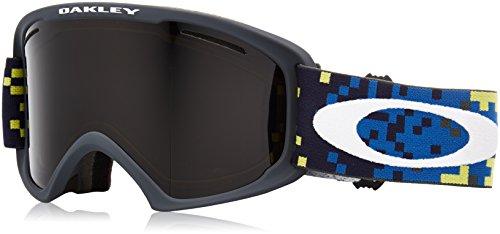 Oakley O-Frame 2.0 XL Snow Goggles, Pixel Fade Iron Laser Frame, Dark Grey Lens, Large (Fade Grey Frame Lens)