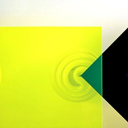 3mm Acrylglas Platte 50x25 cm gelb fluoreszierend