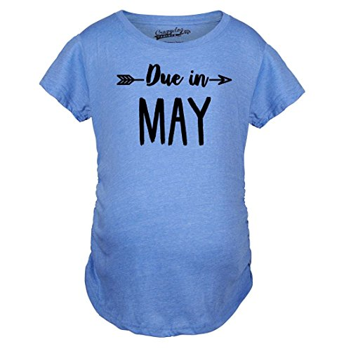 Announce Shirts Tshirts Pregnant T Divertente Due maternit Funny Shirts Crazy di May Maternity Dog Magliette Pregnancy in Shirt Month 8wzxqSPF