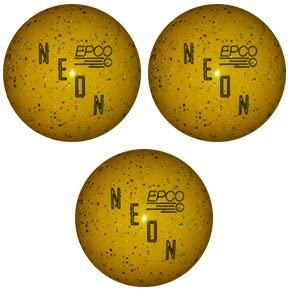 EPCOネオンCandlepin Bowling ball-ネオンイエロートリプルボール  4 1/2 inch- 2lbs. 6oz.
