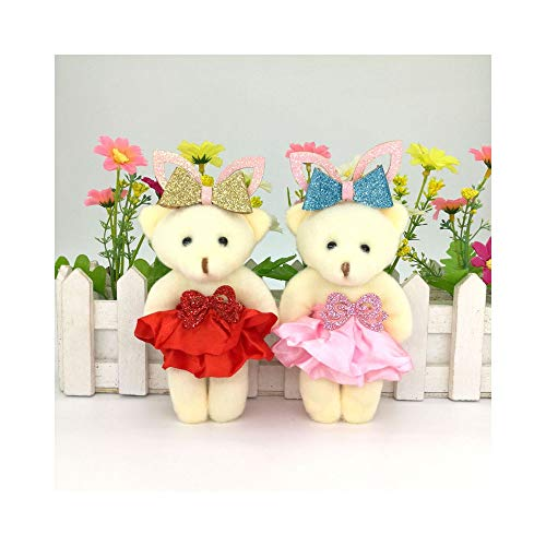 Easter Blessing Bear 12CM 10pcs/Lot Plush Doll Bear with Bunny Ear Easter Gift Teddy Bear with Rabbit Ear from Flodance