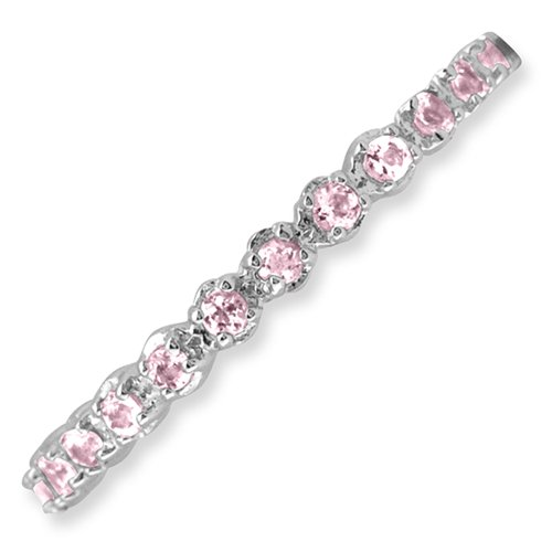 Sterling Silver Stackable Expressions Pink Tourmaline Ring - Size 9 by Stackable Expressions (Image #2)