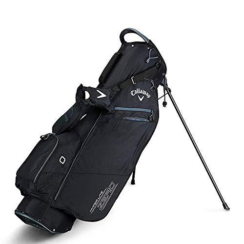 Black White Stand Bag - Callaway Golf 2019 Hyper Lite Zero Stand Bag, Black/Titanium/White, Double Strap