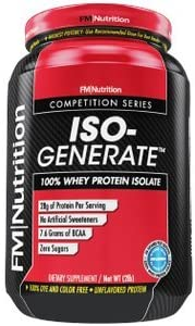 FM Nutrition – ISO-Generate – IsoGenerate – 100 Whey Isolate, Unflavored, Ultra Pure Whey Protein, 28g Protein, 7.6g BCAA, Sugar Free – 2lb Tub
