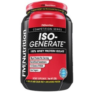 Iso-Generate -100 Whey Isolate, Unflavored, Ultra Pure Whey Protein, 28g Protein, 7.6g BCAA, Sugar Free, Multipurpose- 2lb tub