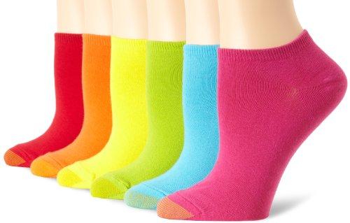 Gold Toe Women's 6 Pack Pair Jersey Liner Socks, Geranium/Plum/Midnight/Dark Pink/Sunset/Aqua, One - Liner Jersey