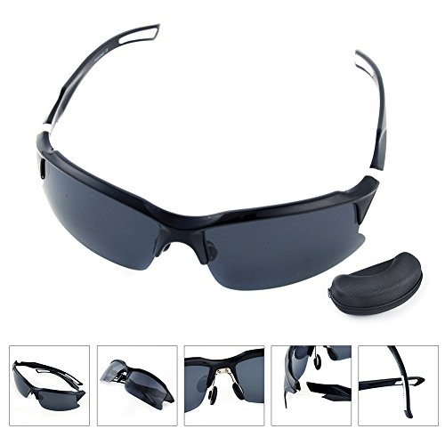 Professional Polarized Cycling Glasses Goggles Sports Sunglasses Protection Polarized Lens,Sports Sunglasses with Unbreakable Frame for Driving Baseball Running Cycling Fishing Golf - Sunglasses 6009