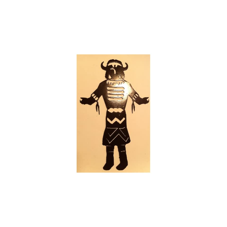 Native Tribal Kachina 10 Inch Ornament or Wall Decor Metal Art