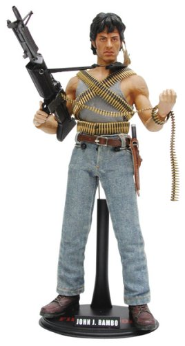 ムービーマスターピース  - 1/6 Scale Fully Poseable Figure: Rambo First Blood - John J. Rambo B000HCZR7M