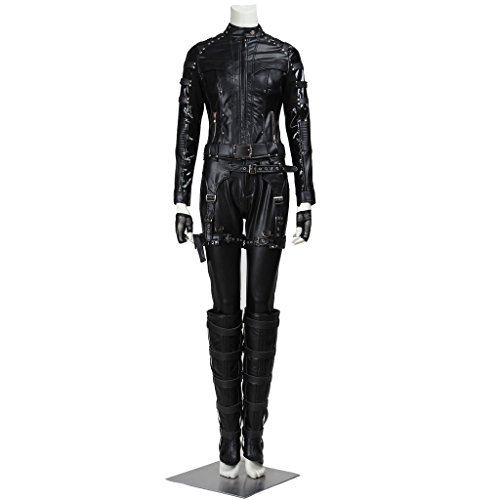 CosplayDiy Women's Costume for Green Arrow Black Canary Dinah Laurel Lance -