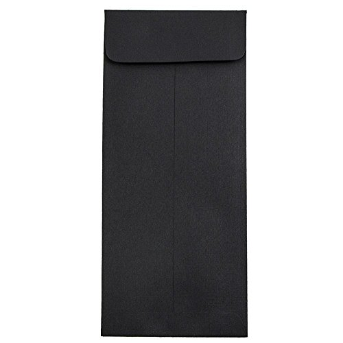 - JAM PAPER #10 Policy Business Premium Envelopes - 4 1/8 x 9 1/2 - Black Linen - 25/Pack