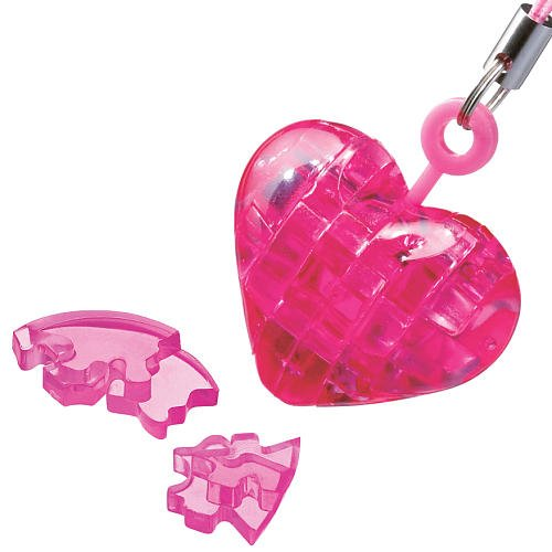 BePuzzled Mini 3D Crystal Puzzle - Heart University Games 30951