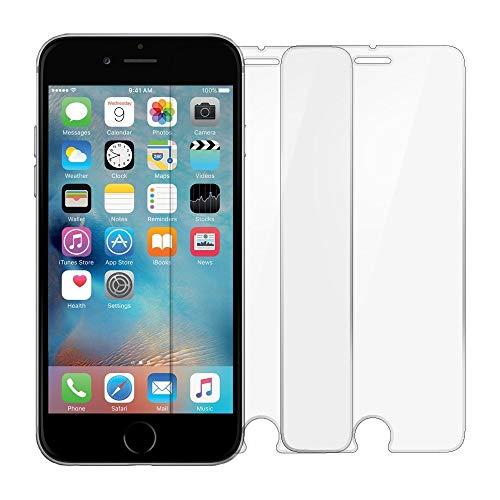 iPhone 7 Screen Protector, TANTEK [Bubble-Free][HD-Clear][Anti-Scratch][Anti-Glare][Anti-Fingerprint] Tempered Glass Screen Protector for Apple iPhone 7(2016)& iPhone 6/6s,-[2Pack]
