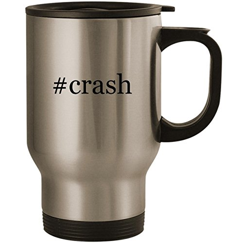 #crash - Stainless Steel 14oz Road Ready Travel Mug, Silver