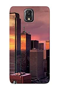 linJUN FENGBqkAYqR3017VqTzB Hot Fashion Design Case Cover For Galaxy Note 3 Protective Case (sunset Cityscapes Buildings Dallas )