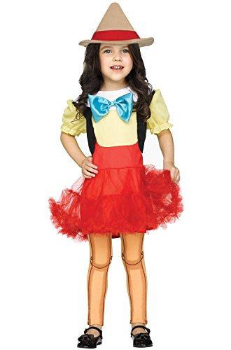 Fun World Toddler Wooden Girl Costume, Multi Large -