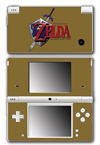 Legend of Zelda Link Ocarina of Time Gold Logo Master Sword Hylian Shield Video Game Vinyl Decal Skin Sticker Cover for Nintendo DSi System (Legend Of Zelda Ocarina Of Time Hylian Shield)