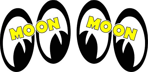 Moon Eyes Pair Right & Left Decal is 3' x 4' each in size Nostalgia Decals Super Store 152