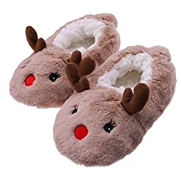 Image of Brown Deer Slippers for Toddlers