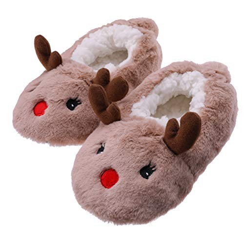 Childrens Christmas Slippers - FANZERO Toddler Kids Girls Boys Cute