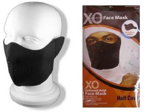 Neoprene Half Cover Black Face Ski Mask Wind Resistant Winter Snow Balaclava